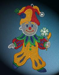 Fensterbild Clown  bunt 4064   25cm x 15,5cm