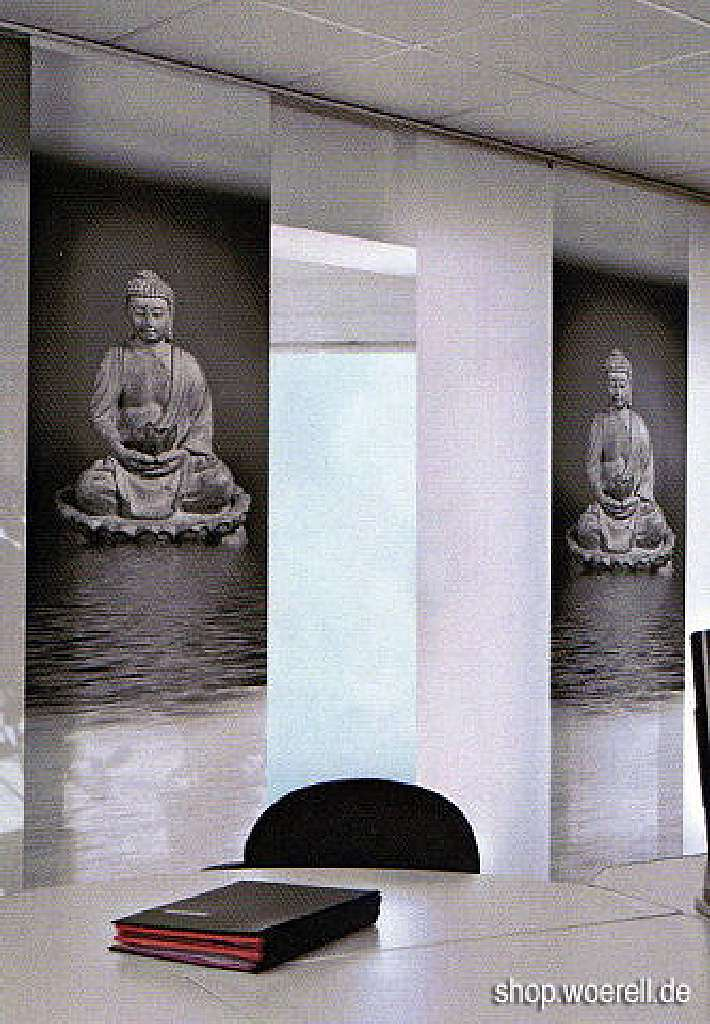 woerell fl chenvorhang buddha 60cm x 245cm online kaufen. Black Bedroom Furniture Sets. Home Design Ideas